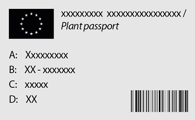 an example of plant passaport