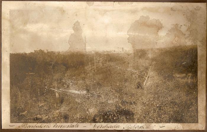 Foto scattata nel 1928. Sullo sfondo il castello di Belvedere